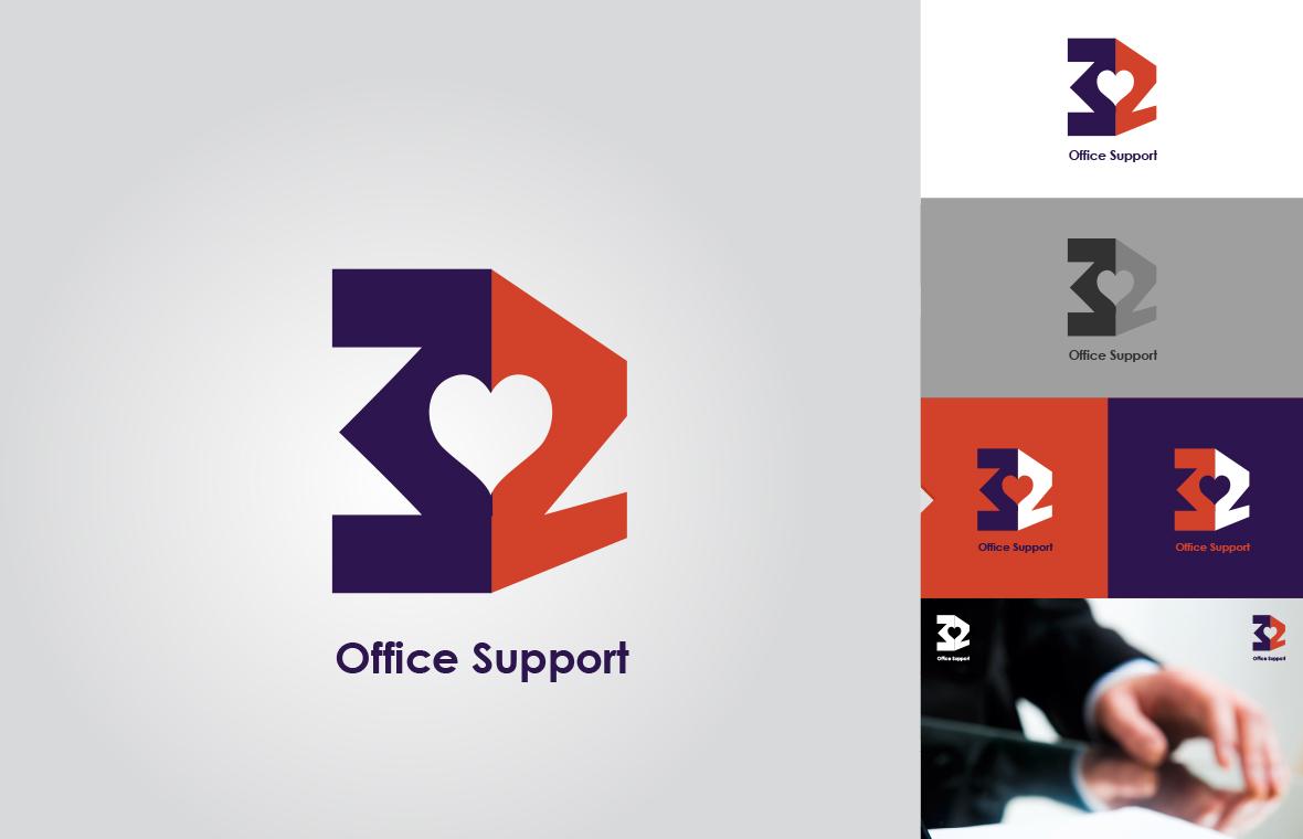 Logo 3z office support huisstijl grafisch ontwerp design