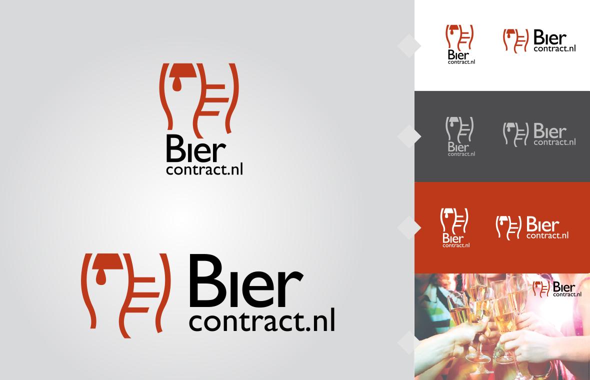 Logo biercontract huisstijl grafisch ontwerp design
