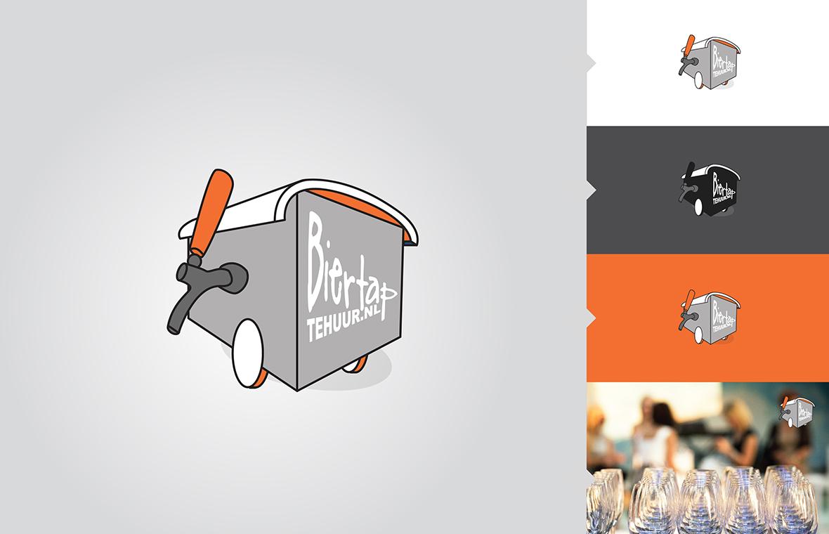 Logo biertaptehuur huisstijl grafisch ontwerp design website webshop