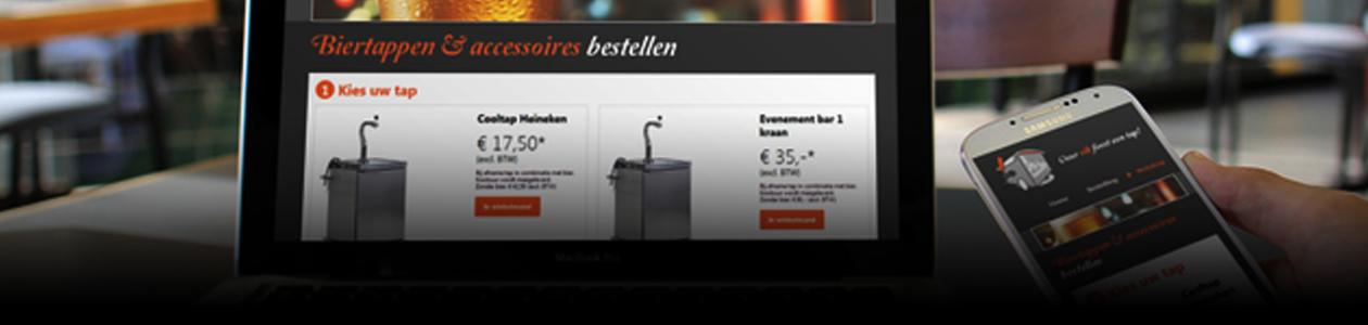 Header guidodegooijer portfolio biertaptehuur logo grafisch ontwerp design webshop website