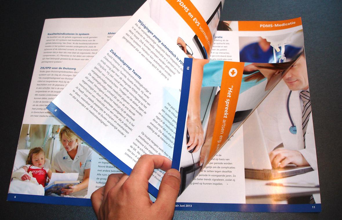 chipsoft brochure magazine drukwerk grafisch ontwerp mediair verzameling bladeren