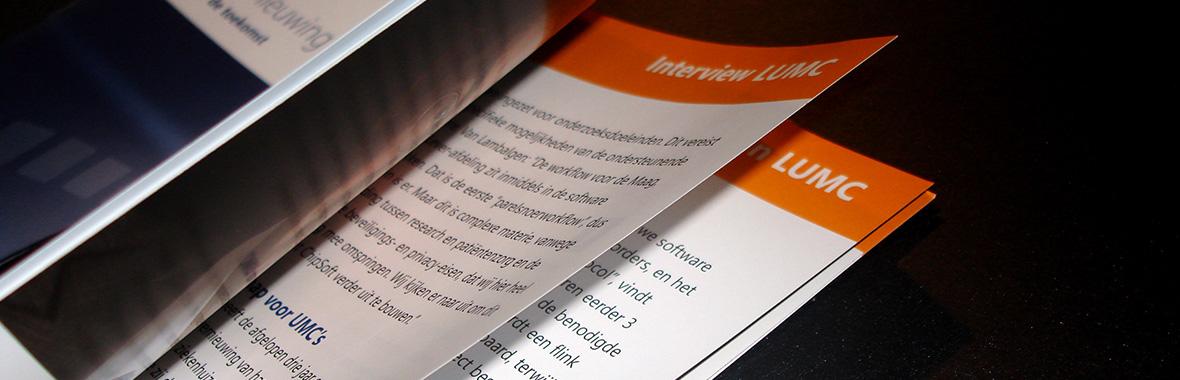 chipsoft brochure magazine drukwerk grafisch ontwerp mediair verzameling close up