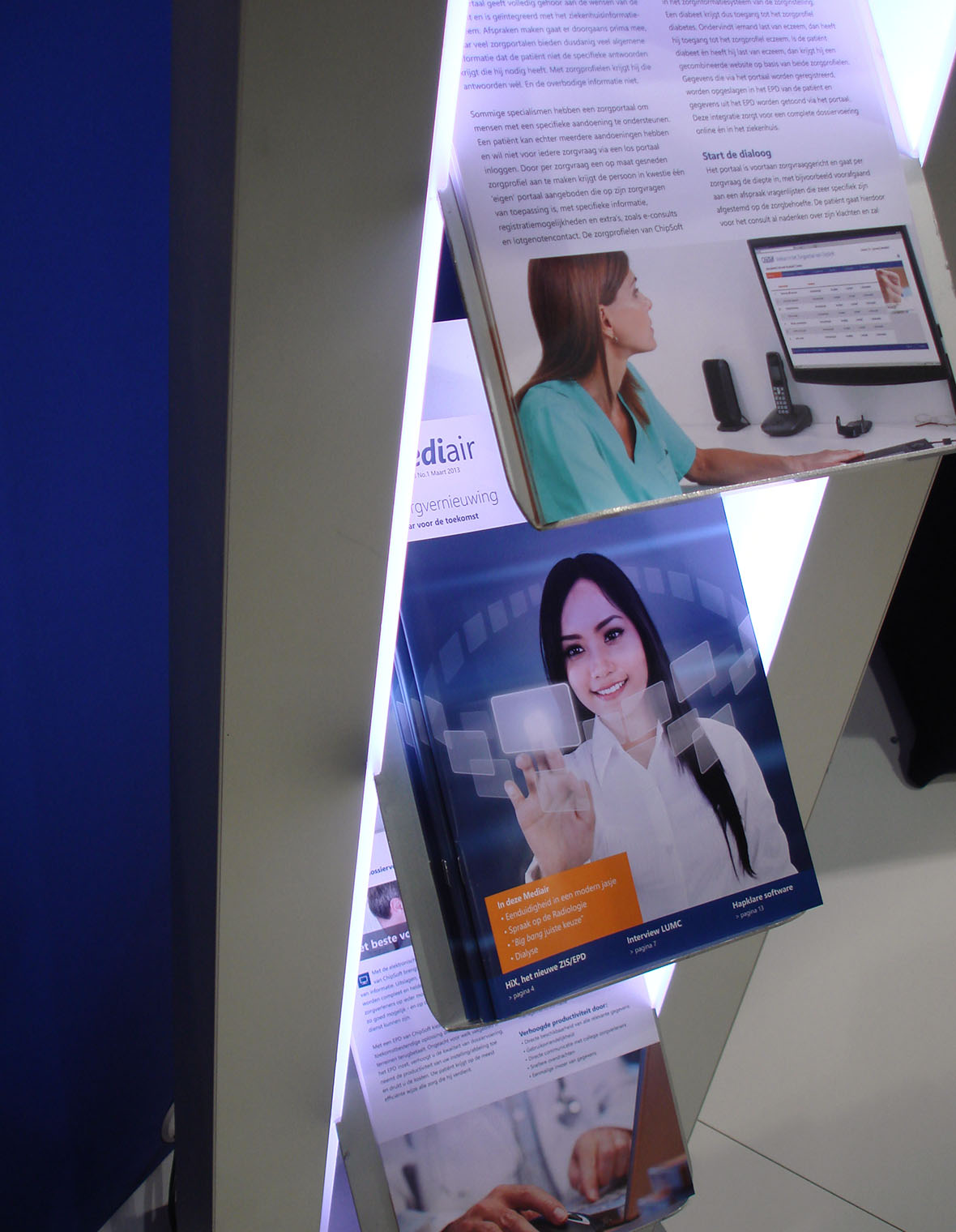 chipsoft brochure magazine drukwerk grafisch ontwerp mediair verzameling compilatie