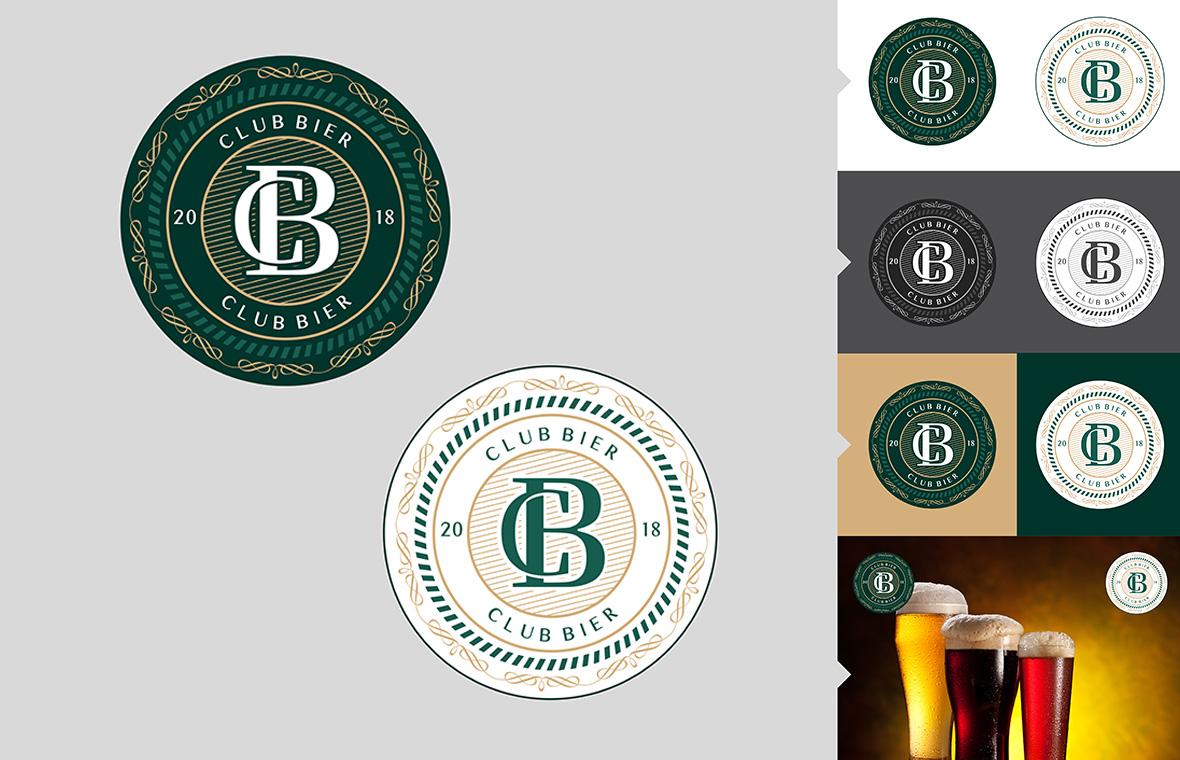 Logo clubbier huisstijl grafisch ontwerp design