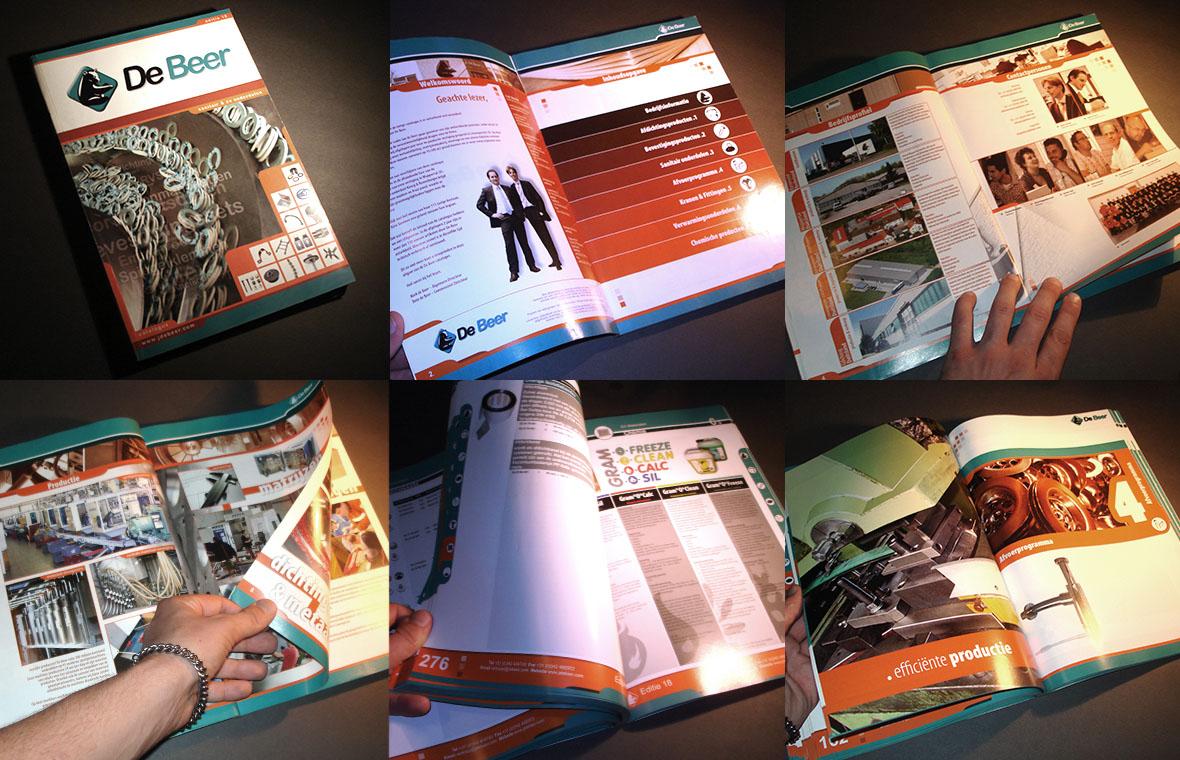 debeer huisstijl magazine catalogus brochure bedrijfsbrochure closeup compilatie