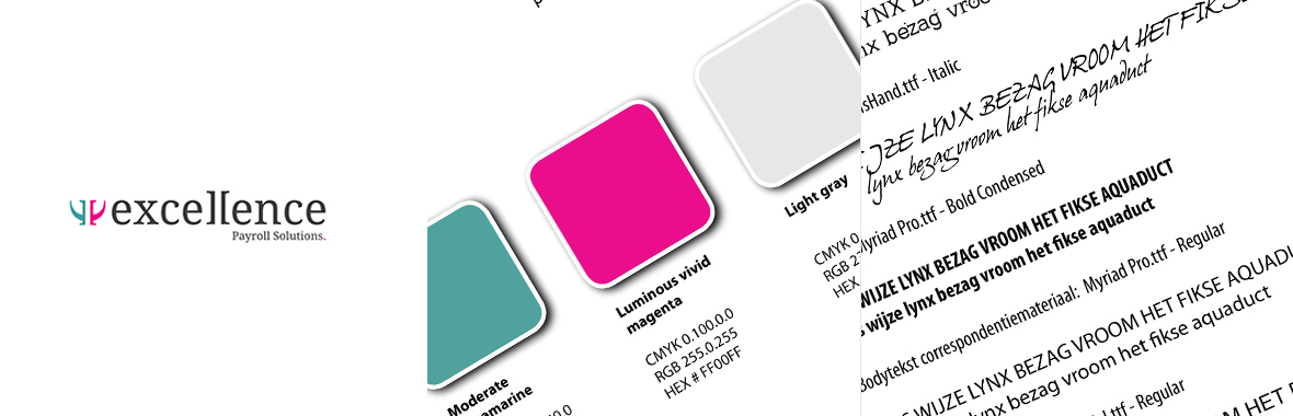 excellence stijlgids kleur styleguide huisstijl logo lettertype font
