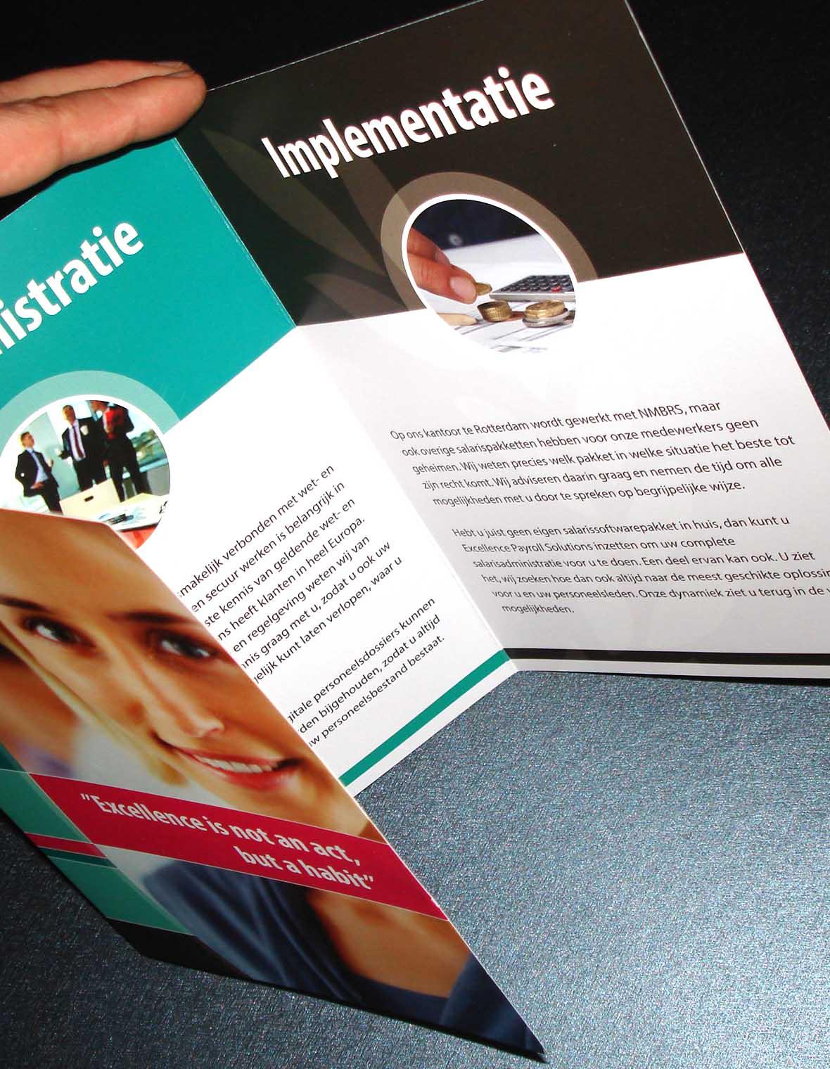 excellence huisstijl magazine catalogus brochure bedrijfsbrochure closeup compilatie