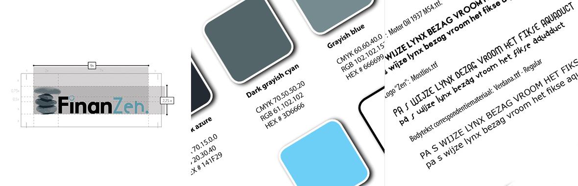 finanzen stijlgids kleur styleguide huisstijl logo lettertype font