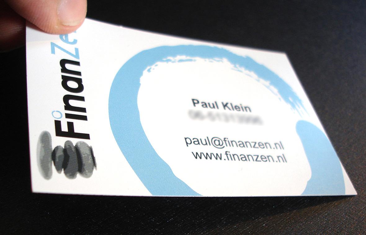 finanzen finished product visitekaartje drukwerk