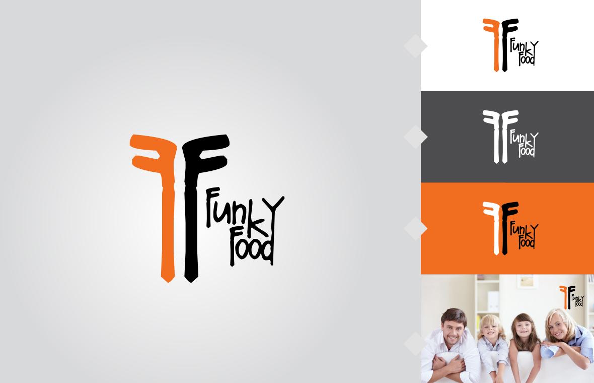 Logo funky food huisstijl grafisch ontwerp design