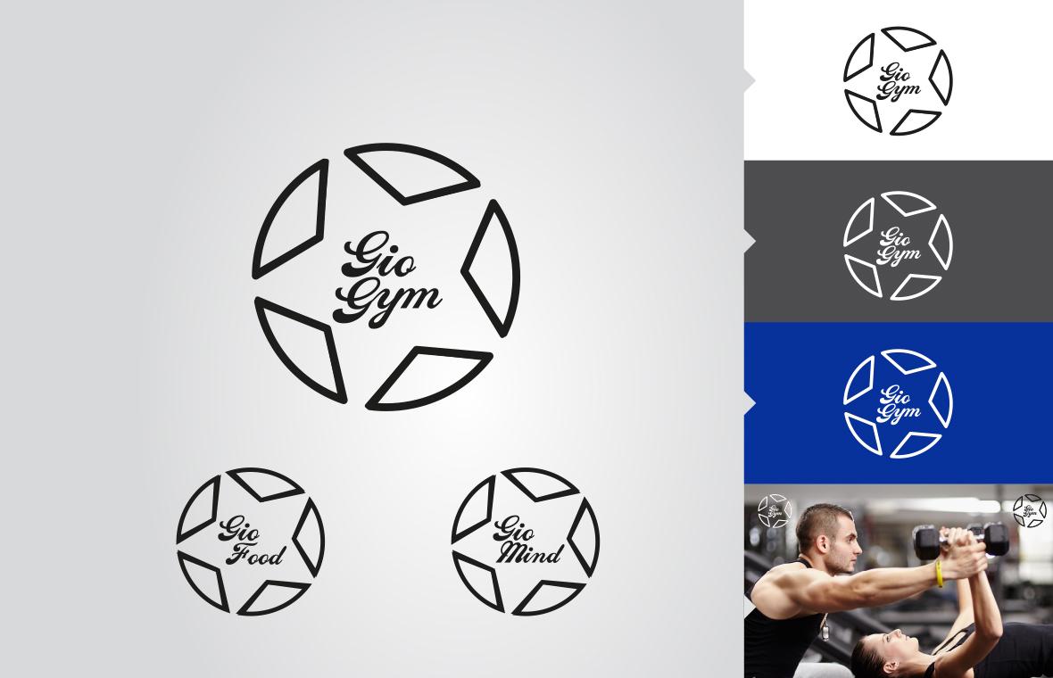 Logo gio gym huisstijl grafisch ontwerp design
