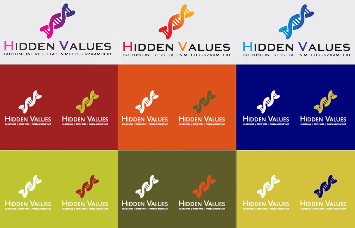 hidden values schetsen logo