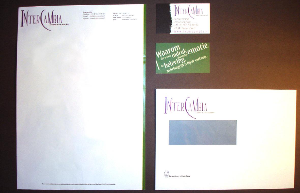 intercambia huisstijl visitekaartjes drukwerk logo briefpapier