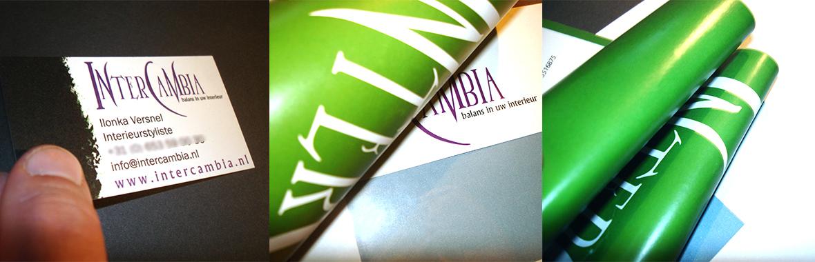 intercambia huisstijl visitekaartjes drukwerk logo briefpapier compilatie
