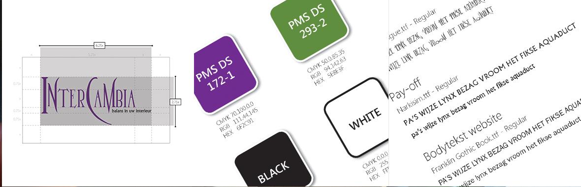 intercambia stijlgids kleur styleguide huisstijl logo lettertype font