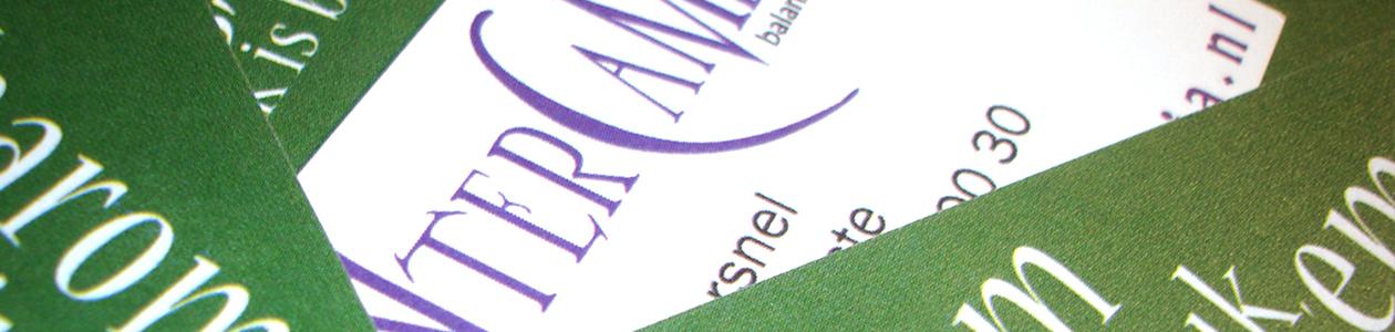 intercambia huisstijl visitekaartjes drukwerk logo briefpapier closeup