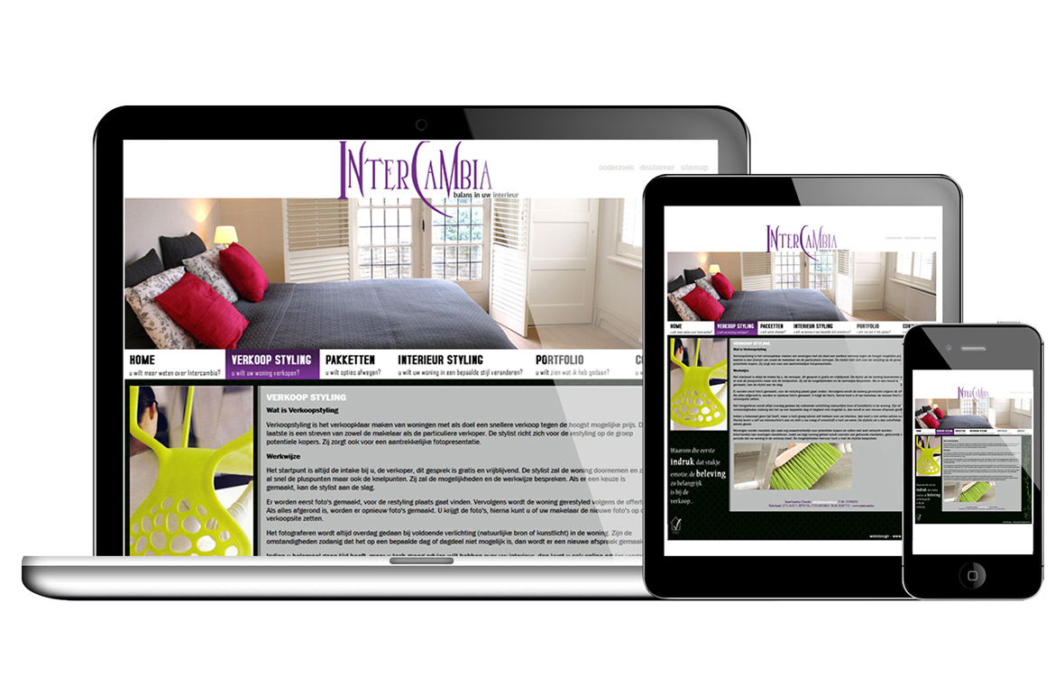 website webdesign intercambia finished product responsive mobile