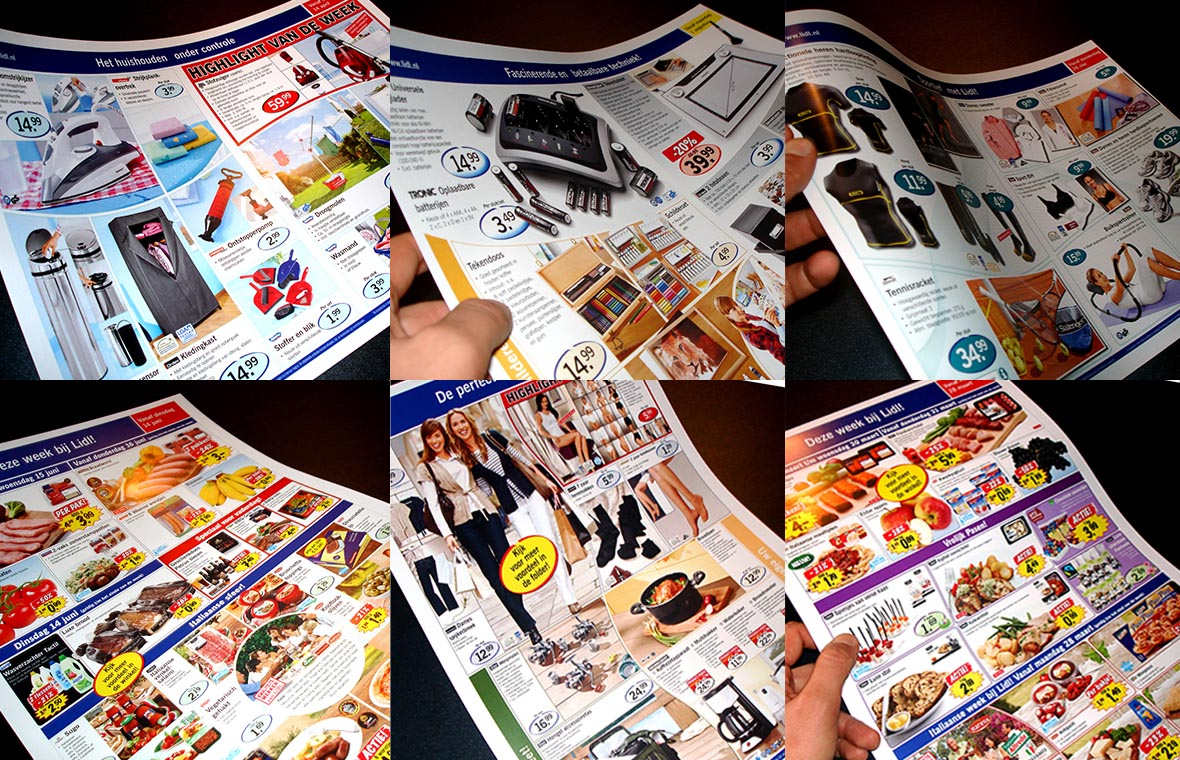 lidl flyer poster brochure header closeup dtp desktoppublishing compilatie