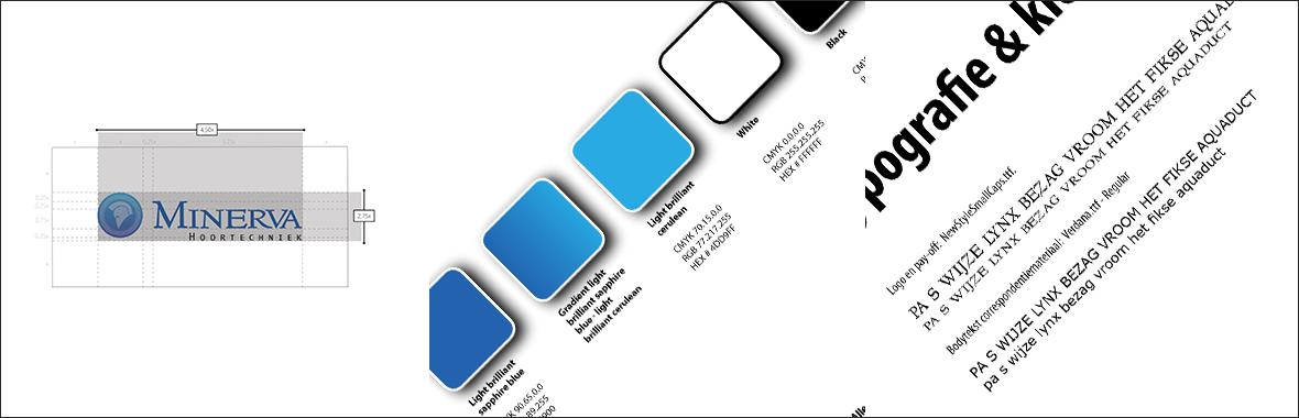minerva stijlgids kleur styleguide huisstijl logo lettertype font