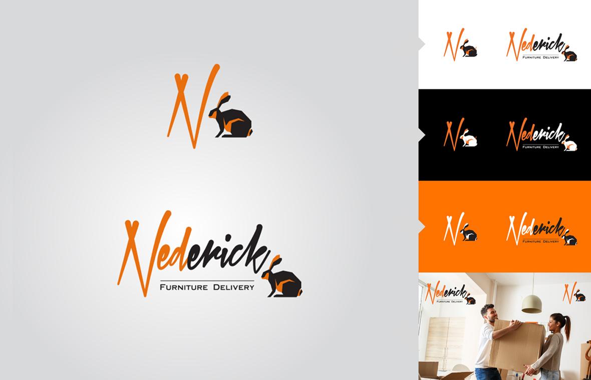Logo nederick huisstijl grafisch ontwerp design