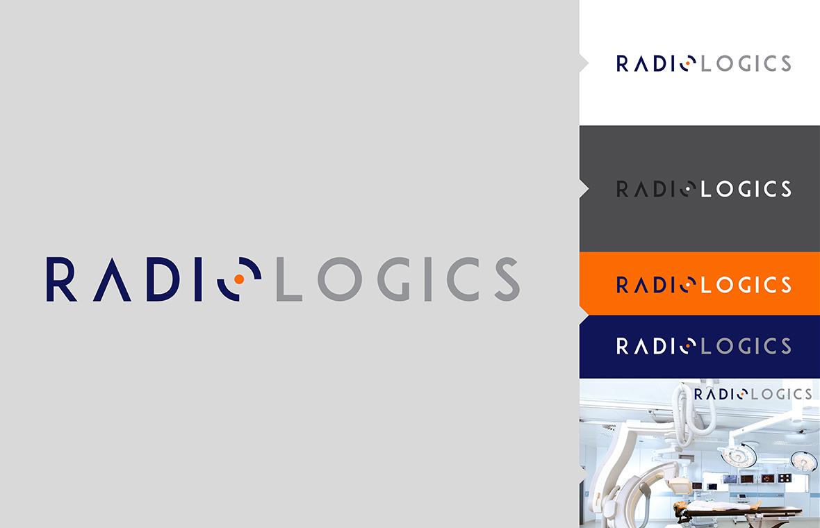 Logo radiologics huisstijl grafisch ontwerp design