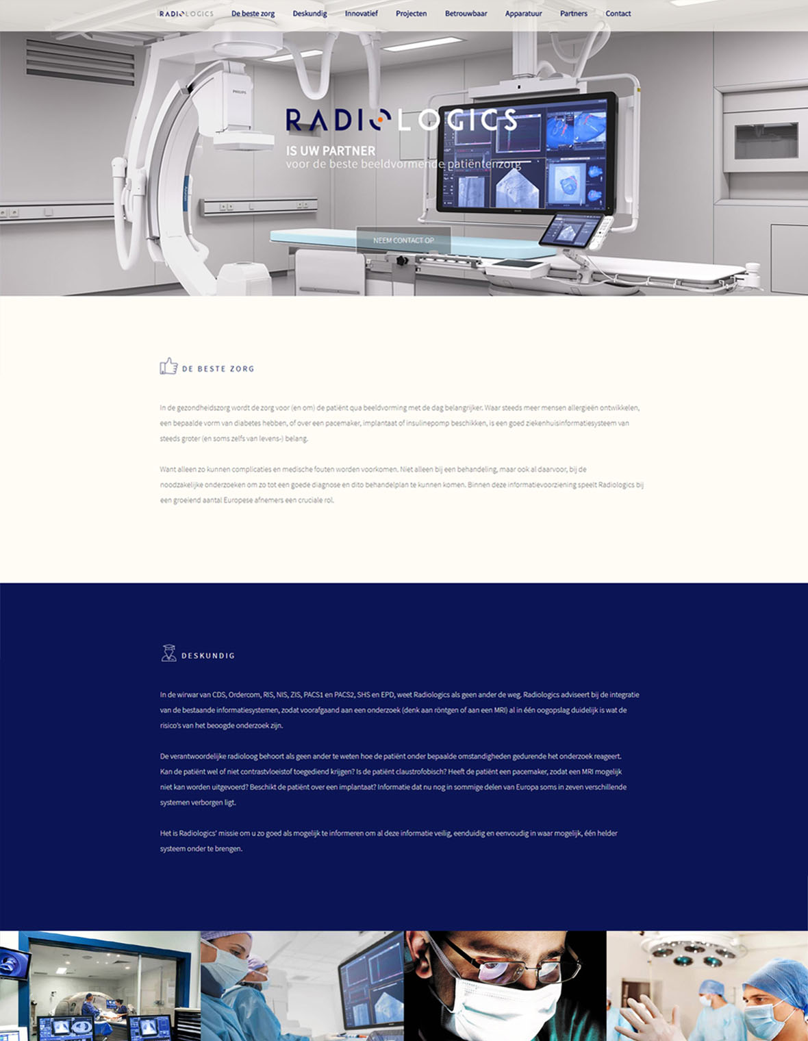 Webdesign website radiologics