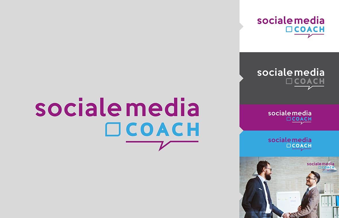 Logo sociale media coach huisstijl grafisch ontwerp design