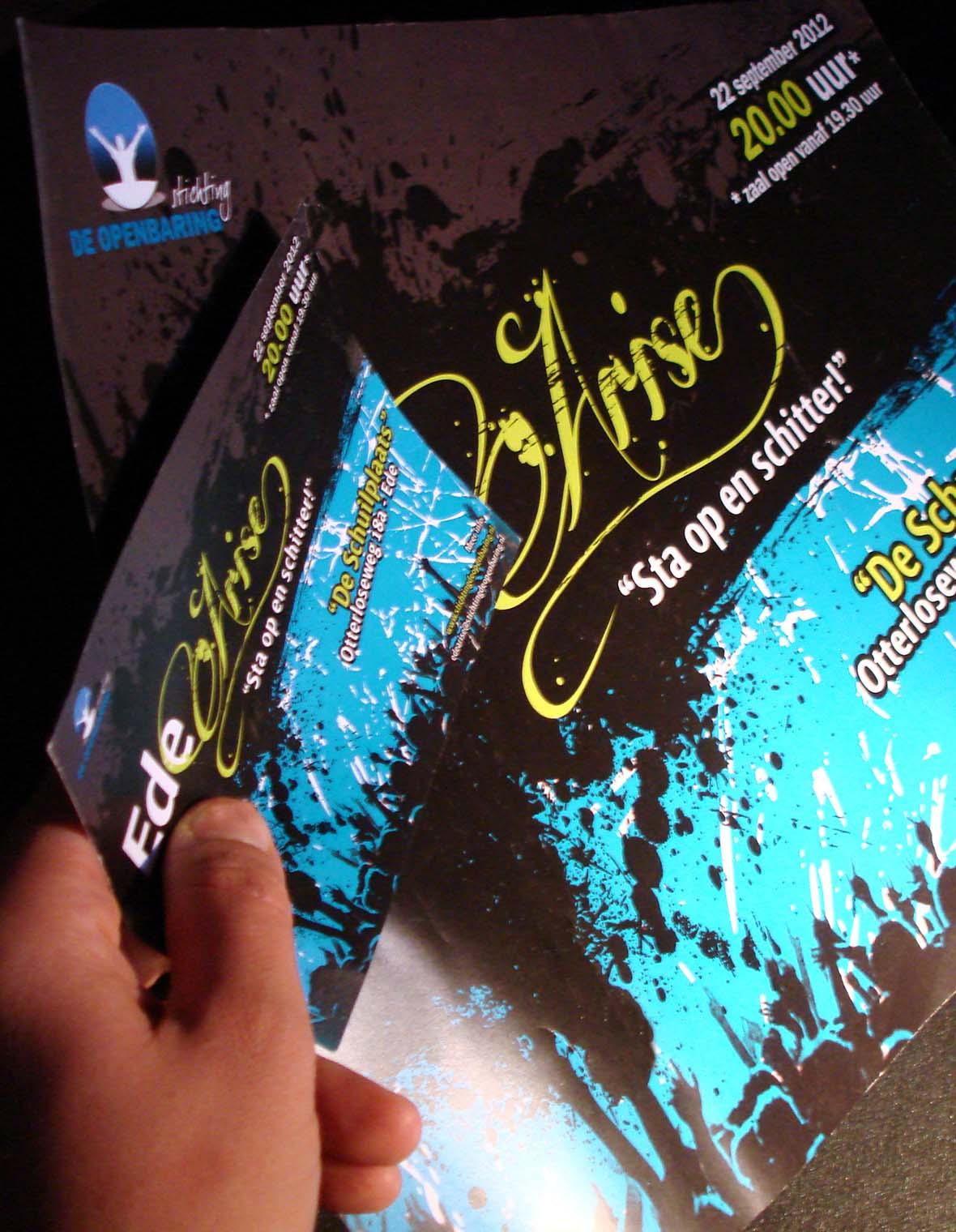 stichtingdeopenbaring logo huisstijl flyer drukwerk compilatie collectie poster
