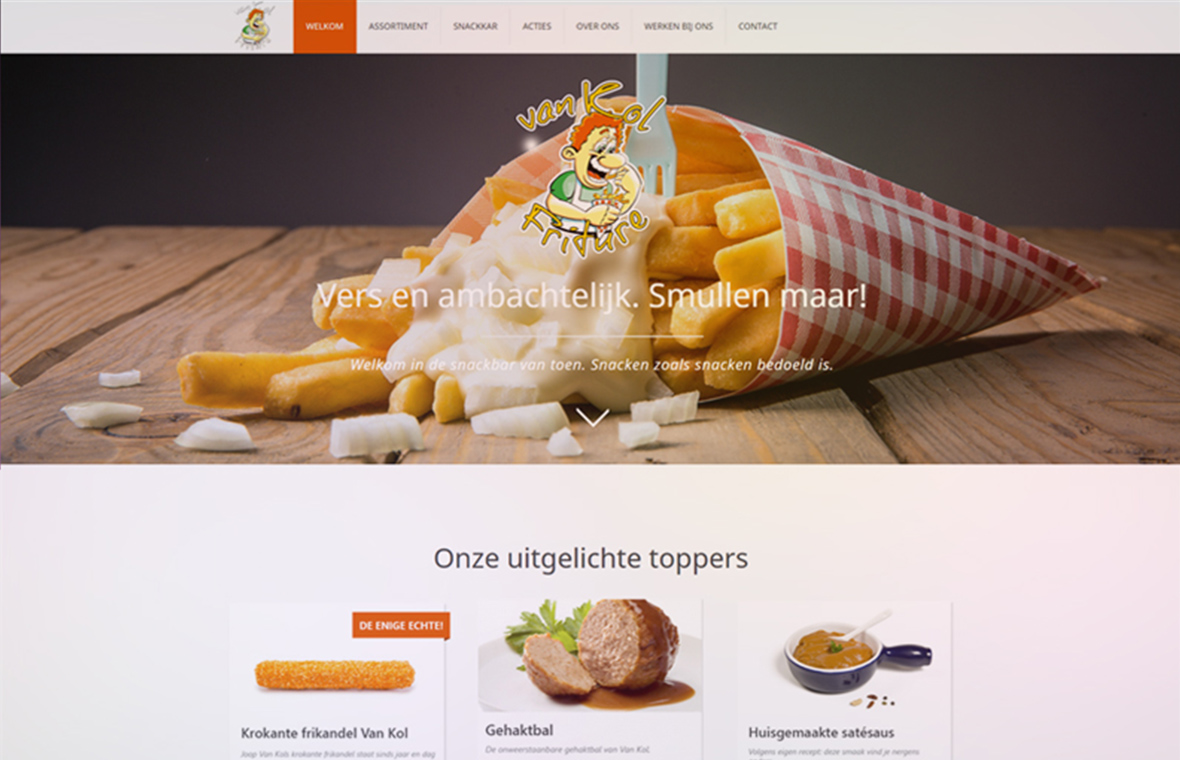 webdesign website van kol friture
