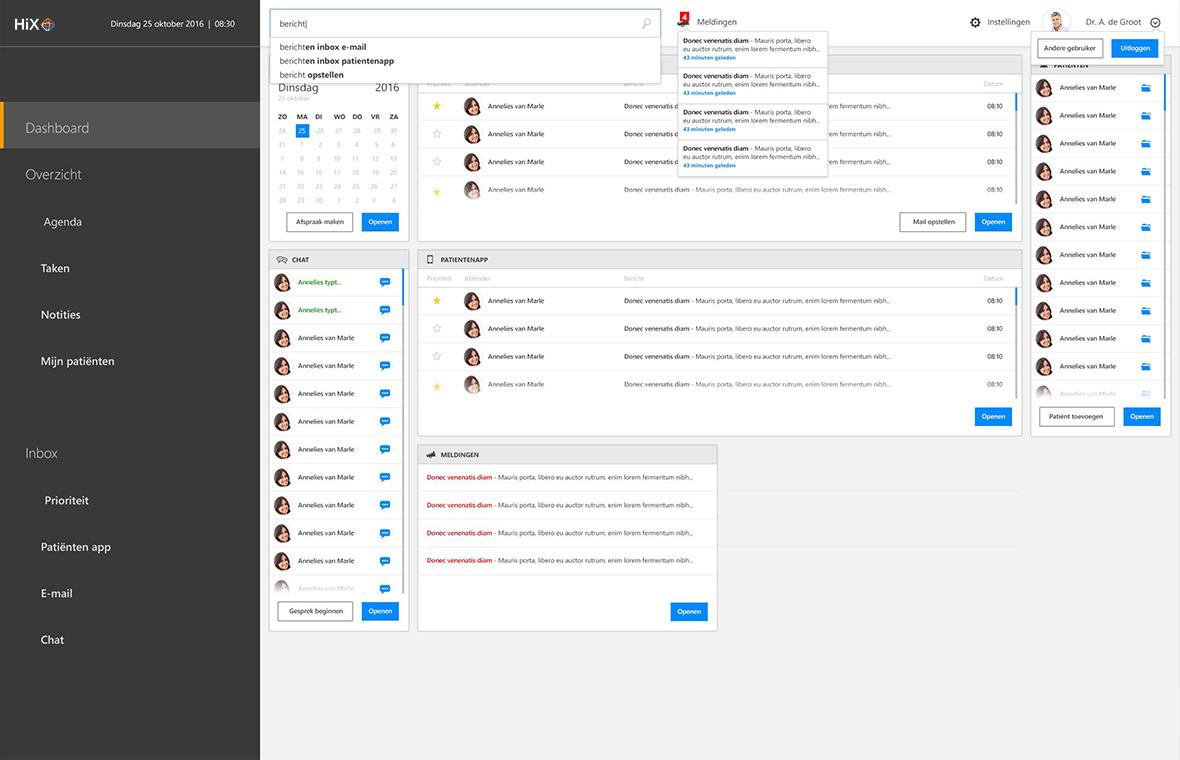 chipsoft ux interaction user experience interface digital software app grafisch ontwerp hix tablet