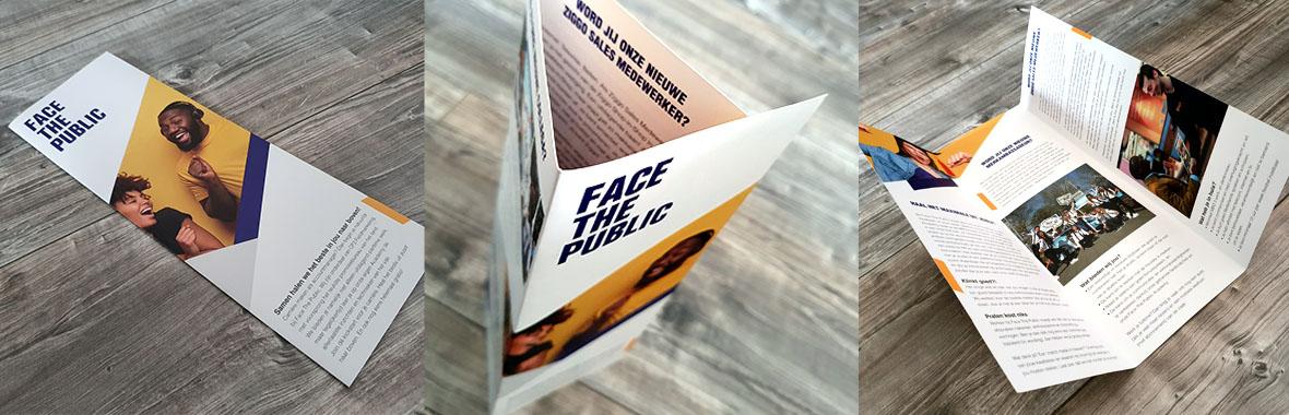 facethepublic brochure folder grafisch ontwerp drukwerk bedrijfsbrochure drieluik