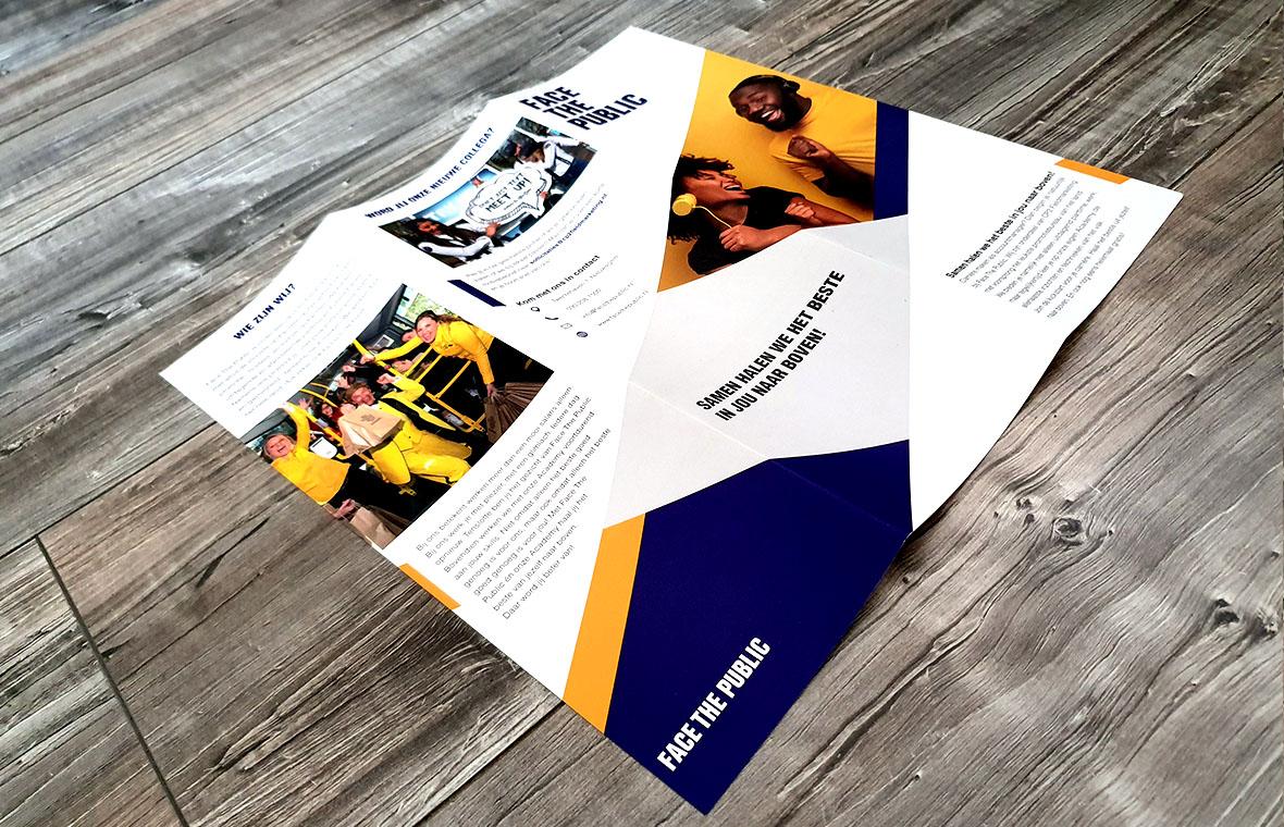 facethepublic brochure folder grafisch ontwerp drukwerk bedrijfsbrochure enkel