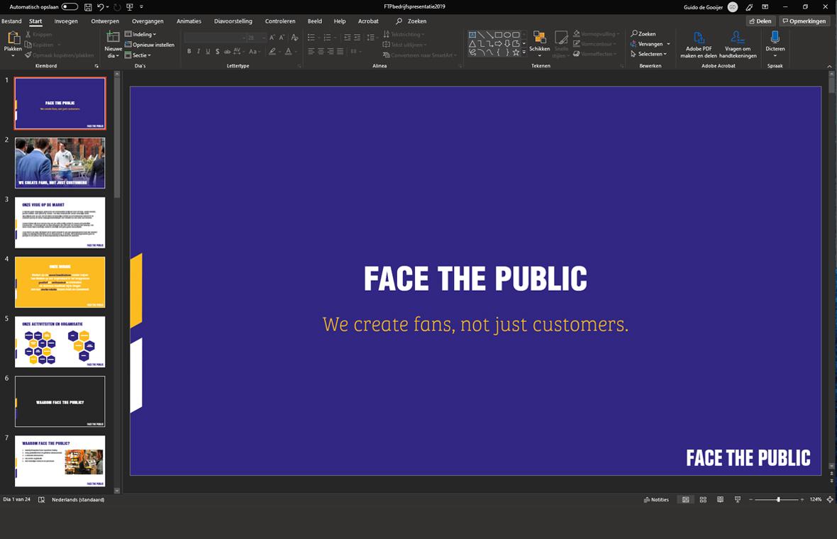 facethepublic grafisch ontwerp drukwerk powerpoint huisstijl