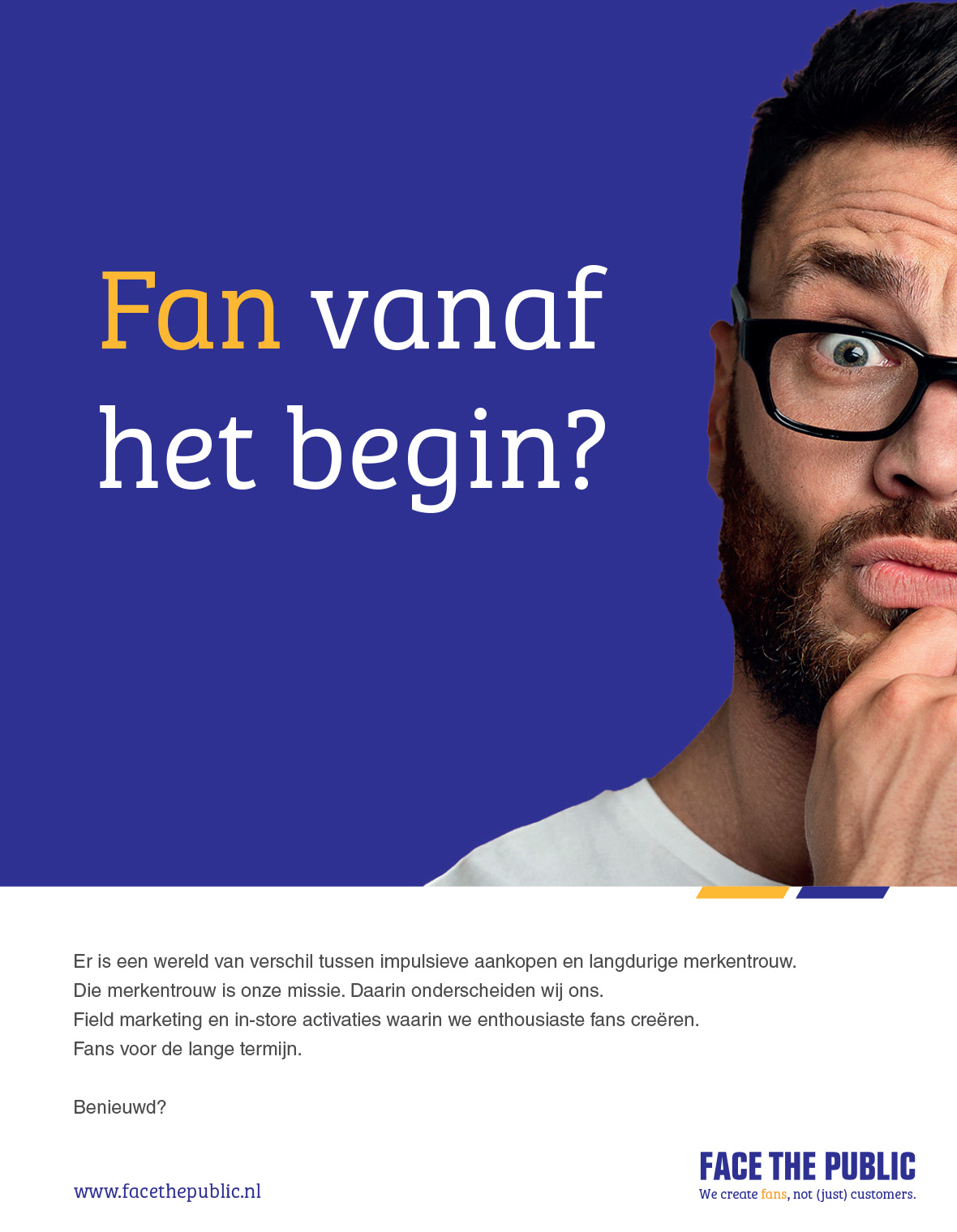 facethepublic huisstijl email advertentie grafisch
