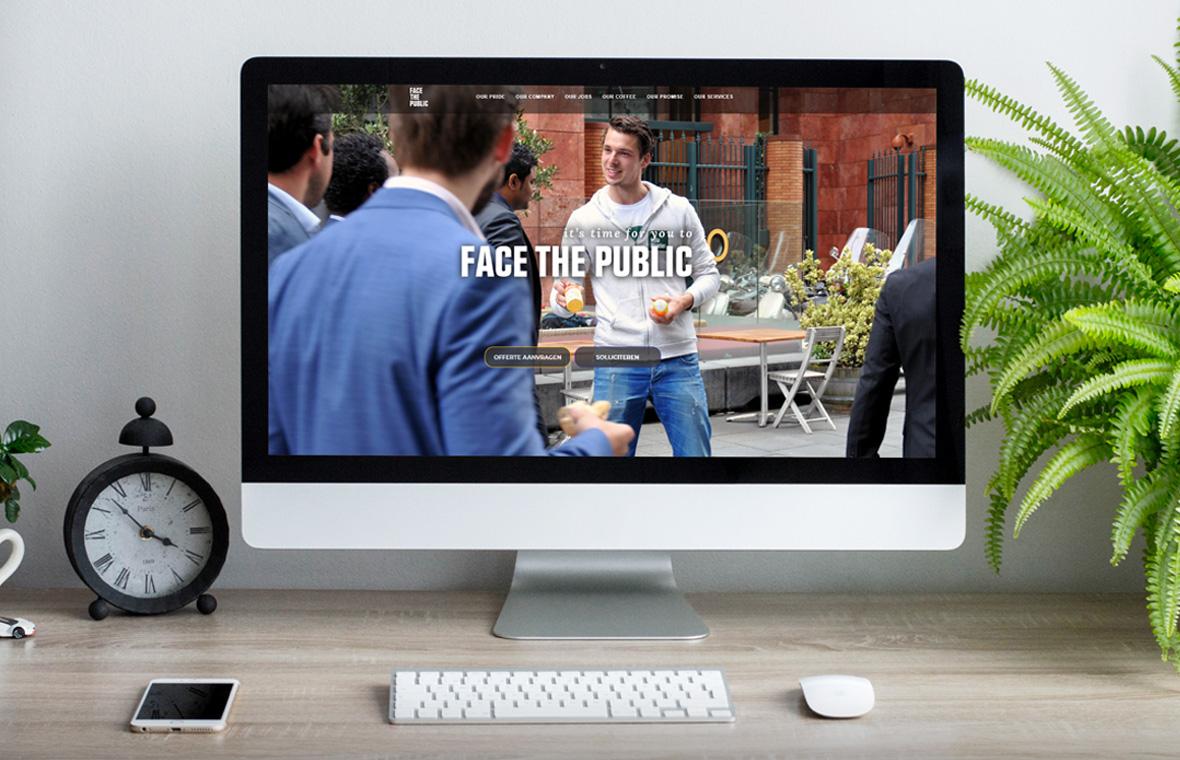 facethepublic website webdesign mockup huisstijl