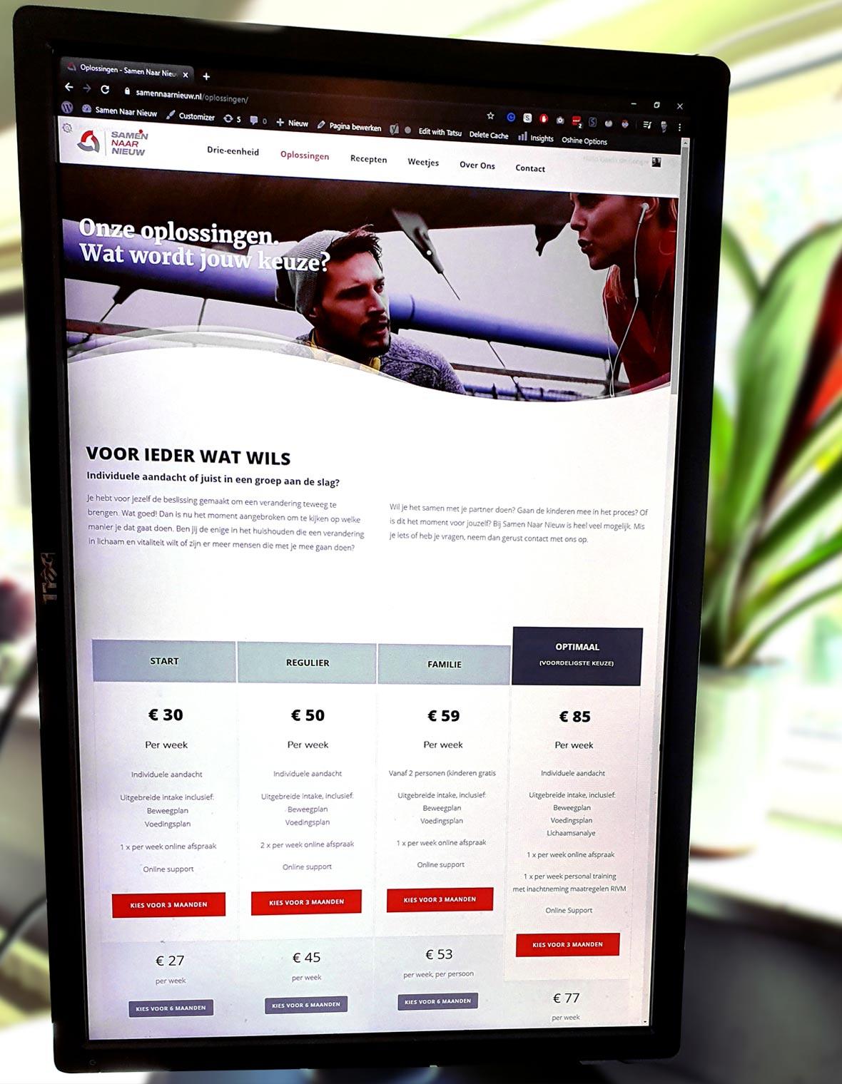 samennaarnieuw website webdesign mockup huisstijl live responsive