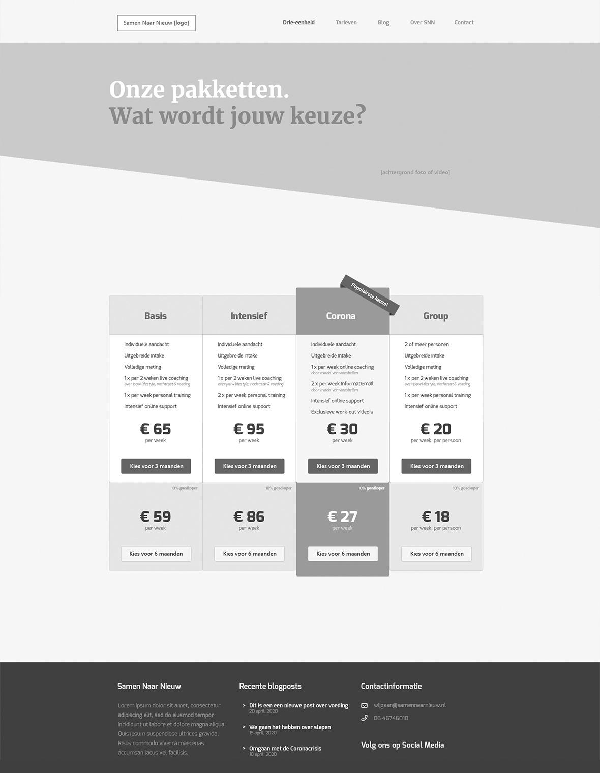 samennaarnieuw website webdesign mockup huisstijl wireframe
