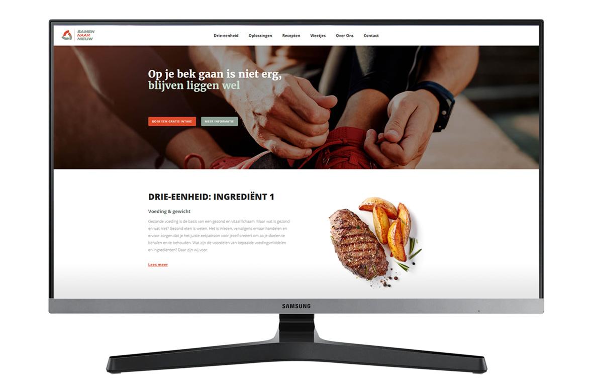 samennaarnieuw website webdesign mockup huisstijl